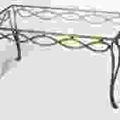 Rene Drouet gilt forged iron coffee table (#1504)