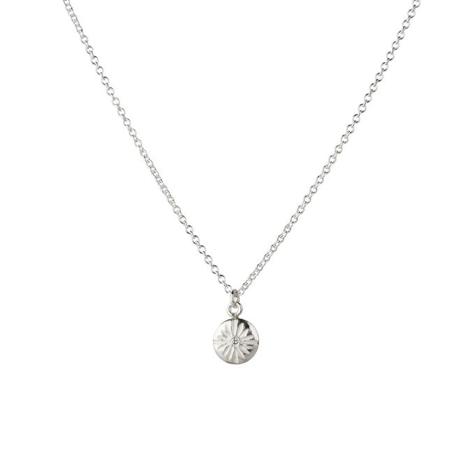 Small Lucia Sterling Silver Diamond Necklace