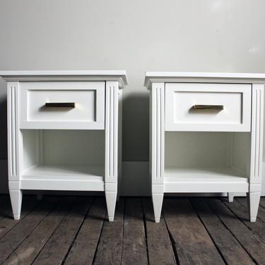 Custom Built Gustavian Style Nightstands