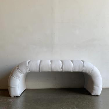 Vintage On Point channel tuft waterfall bench by VintageOnPoint