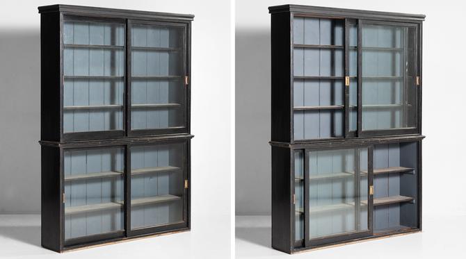 Edwardian Ebonised Bookcase