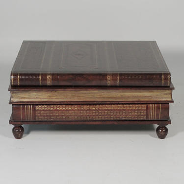 Maitland Smith Leather Stack Book Coffee Table