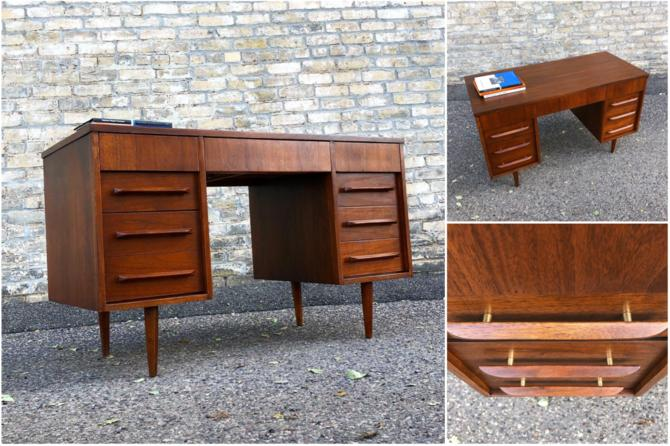 Restored Walnut Desk By Flanders