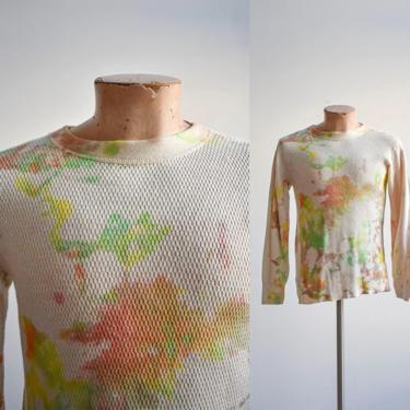 Vintage Green Yellow Tie Dye Army Thermal by milkandice