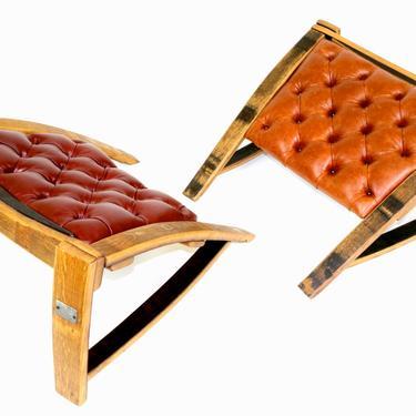 The Ottomans - Wine Barrel Ottoman - Bourbon Barrel Furniture by HungarianWorkshop