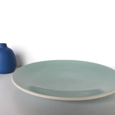 "Sasaki Colorstone Dinner Plate In Vert De Gris, Massimo Vignelli Sea Foam Green Post Modern 10 3/4"" Plate by HerVintageCrush"