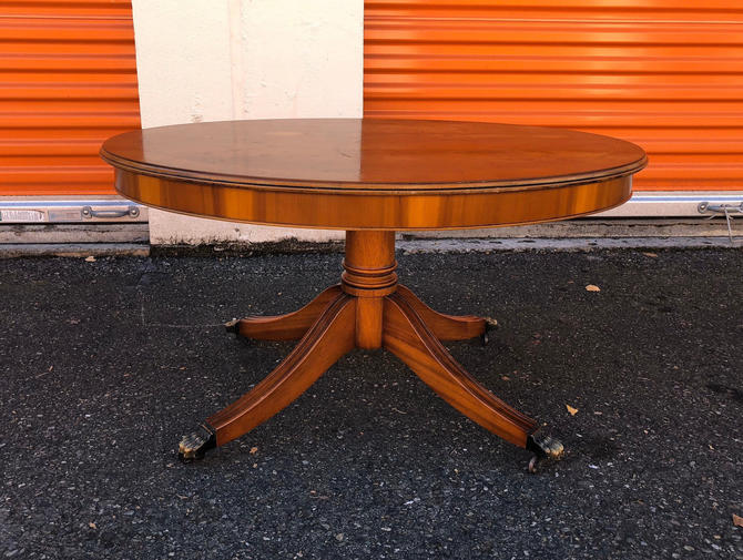 Empire Style Centre Table with Lovely Figured Top Coffee Table by BigWhaleConsignment