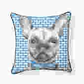 Grey Frenchie Bulldog Pillow