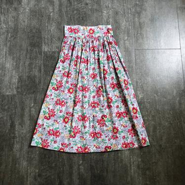 1940s floral print skirt . vintage 40s skirt by BlueFennel