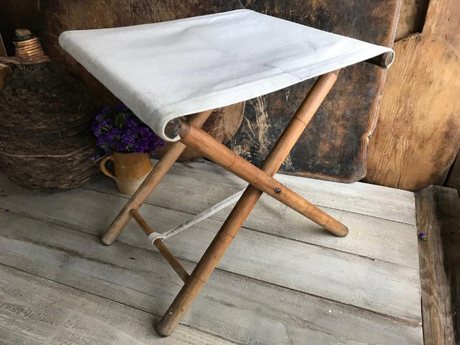 Fabulous French Wood Canvas Folding Chair Stool Patio Fishing Bralicious Painted Fabric Chair Ideas Braliciousco
