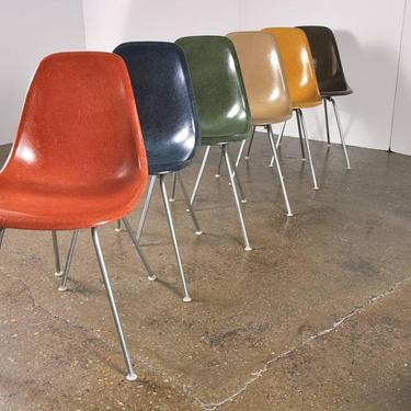 Original Eames Fiberglass Shell Chairs by Herman Miller by openairmodern