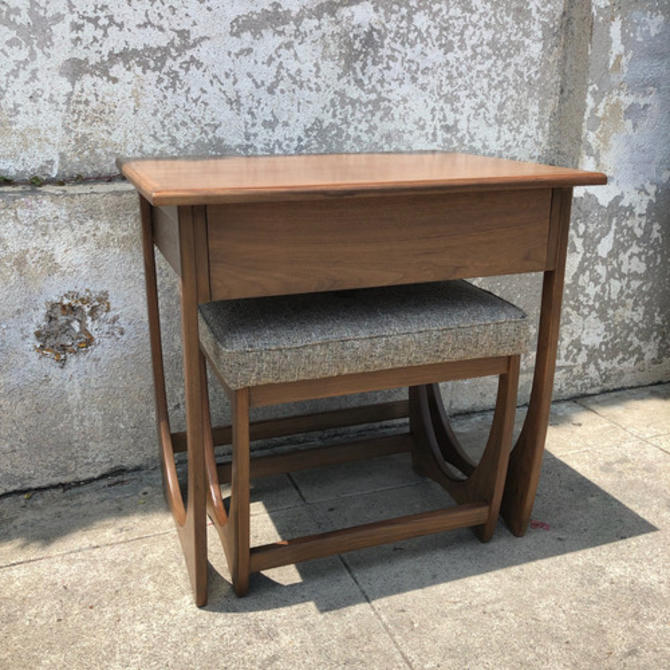 Vintage style small desk and stool