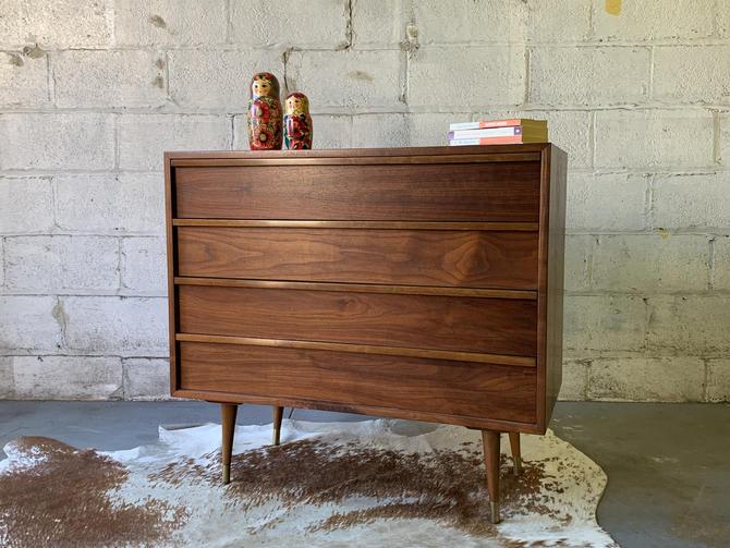 Mid Century MODERN WALNUT DRESSER gorgeous wood grains by CIRCA60