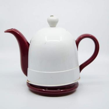 Vintage Two Piece Ceramic Teapot by BluffStProps