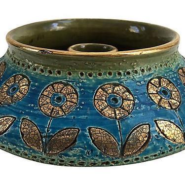 Rosenthal Netter For Raymor Bitossi Candleholder/Vase, Bitossi by BostonVintageStudio