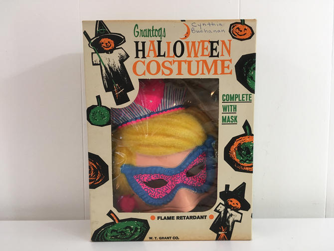 Vintage Halloween Fairy Princess Mask and Costume Decoration Party Favor Toy Made in the USA 1960s Grantogs Ben Cooper by CheckEngineVintage