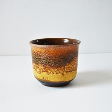 Small West German Art Pottery Fat Lava Flower Pot by Scheurich Keramik by SourcedModern