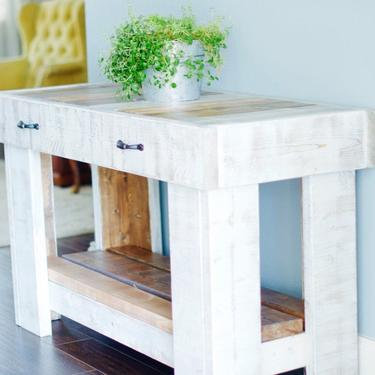 Farmhouse Entry Table, Rustic Entry Table, Rustic Farmhouse Console Table, Entryway Table, Rustic Buffet Table, Rustic Media Table by ArcherHomeDesigns