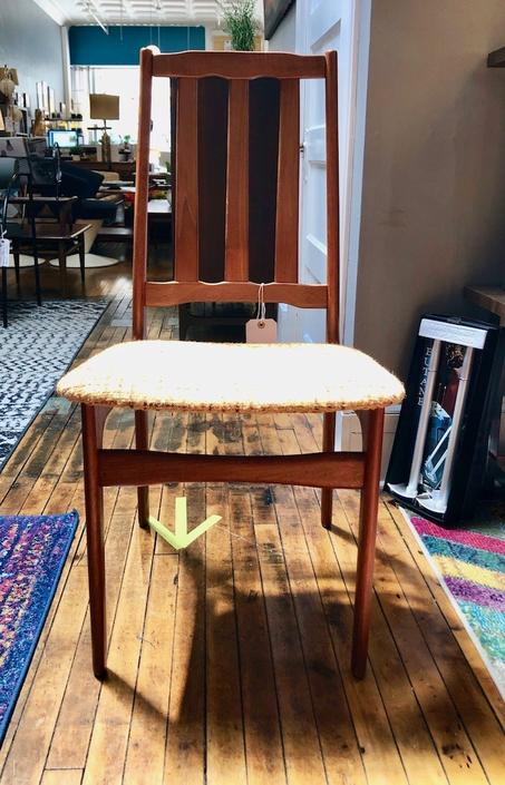 Single Vintage Teak Side Chair -Denmark 1960's