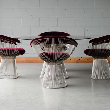 Authentic Warren Platner Table and Chairs Set by Knoll by MadsenModern