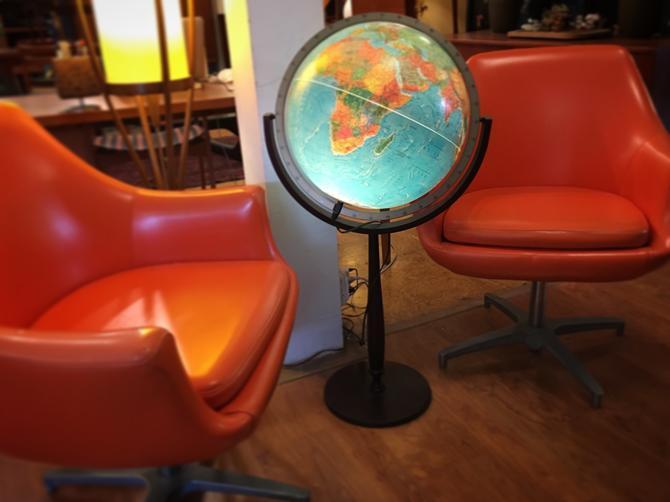 Vintage Lighted Standing Globe