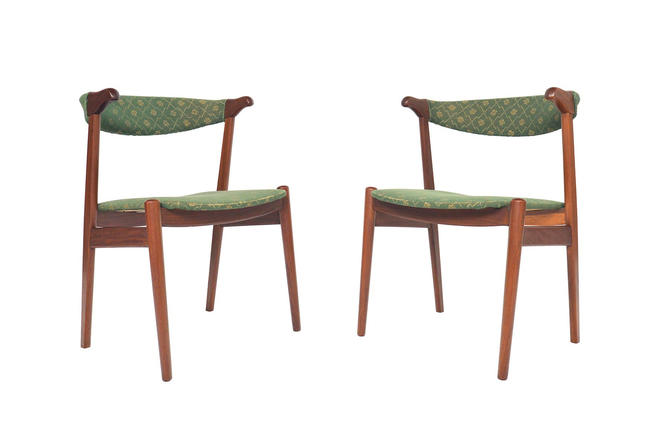 Pair of Danish Mid Century Modern Teak Dining Chairs by MidCenturyMobler