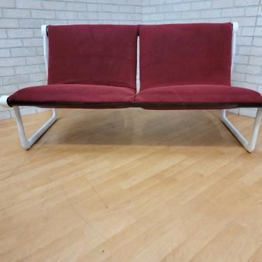 Mid Century Modern Hannah Morrison for Knoll Two Seat Sling Sofa