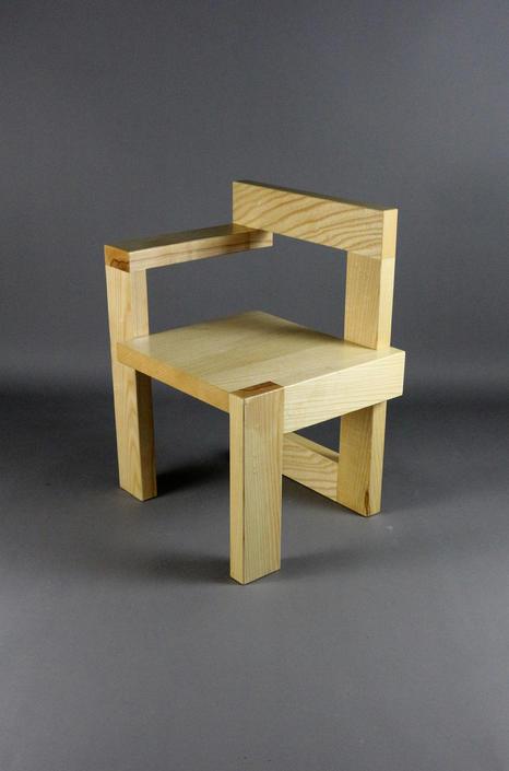 Custom Gerrit Rietveld Steltman Mid Century Chair in Ash by GRWoodworker
