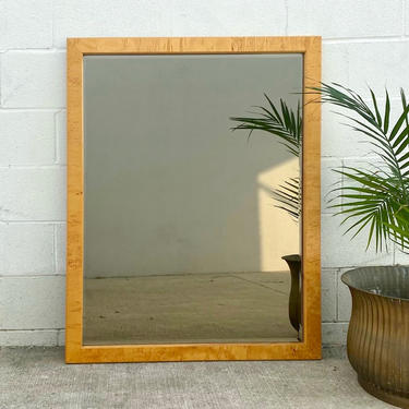 Burl Wood Frame Smokey Glass Mirror