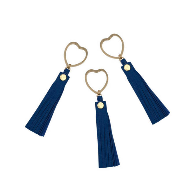Heart Key Ring by Sarah Cecelia Blue Tassel Key Ring by SarahCecelia