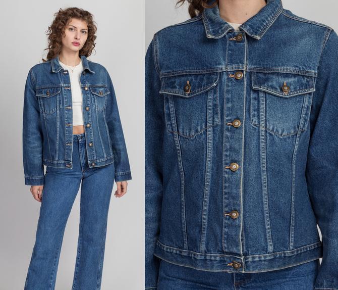 Vintage Forenza Jean Jacket - Women's Large   80s 90s Medium Wash Denim Jacket by FlyingAppleVintage