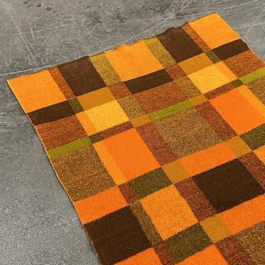Vintage Faalberg Blanket 1960s Retro Size 87x56 Lodge + Wool + Orange and Brown + Checkered Print + Made in Holland + Car Throw + Bedding + by RetrospectVintage215