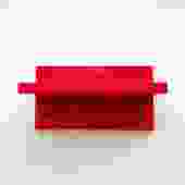 1970s Red ABS PLAStic Kartell Wall Shelf + Hooks