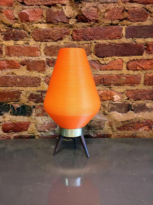 Mid Century Atomic Orange table lamp by UrbanInteriorsBalt