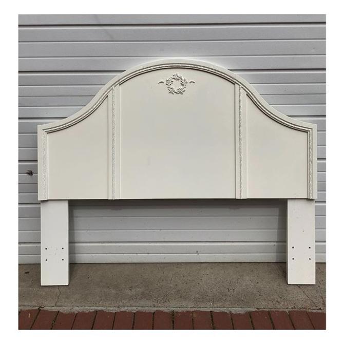 Queen white heardboard 63 W x 51 H