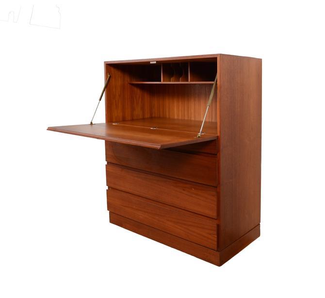 Teak Desk Secretary Desk Arne Wahl Iversen made by Vinde Mobler Danish Modern by HearthsideHome