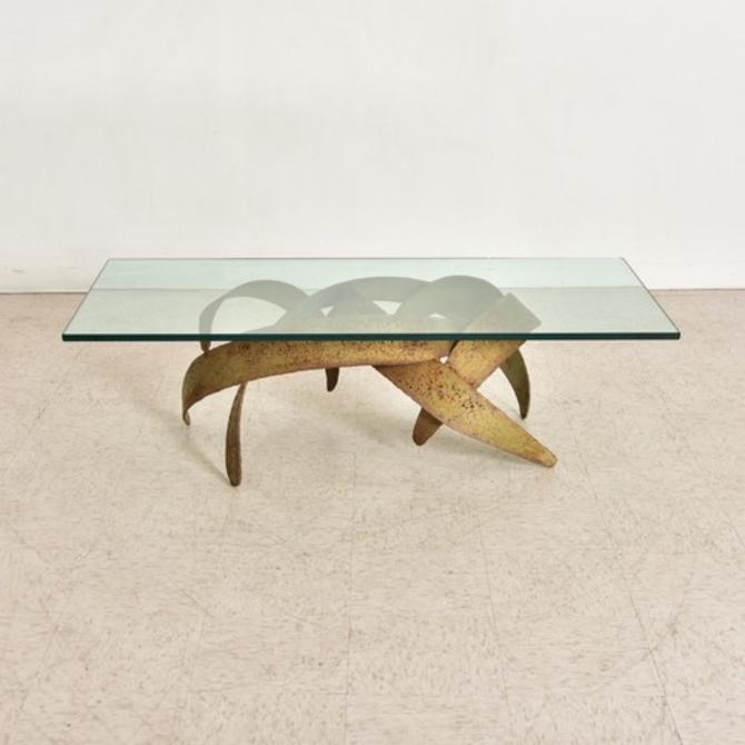 Sculptural 1970's Vintage Coffee Table
