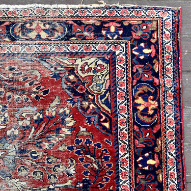 Vintage Rug 5' 3 x 6' 7 Pink Oriental Rug Farmhouse by JessiesOrientalRugs