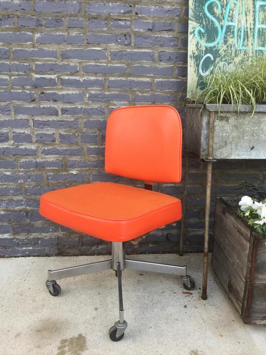 Adjustable Orange Office Chair