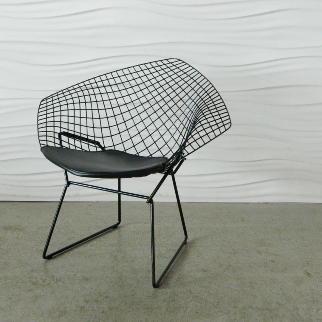 ha c8210 bertoia diamond chair with leather seat pad from home anthology attic. Black Bedroom Furniture Sets. Home Design Ideas