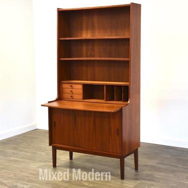 Teak Bookcase Secretary Desk by Heinrich Freundlich by mixedmodern1