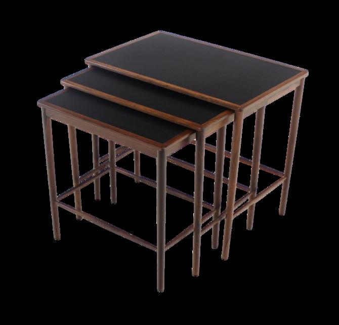 Rare Scandinavian Modern Nesting Tables Designed by Grete Jalk