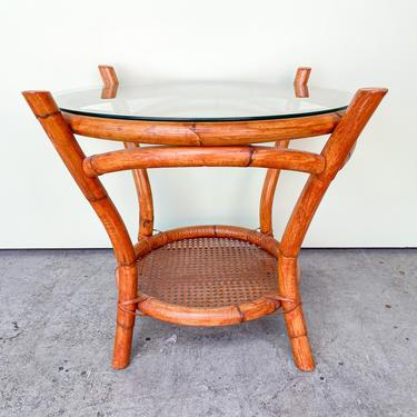 Sweet Rattan and Cane End Table