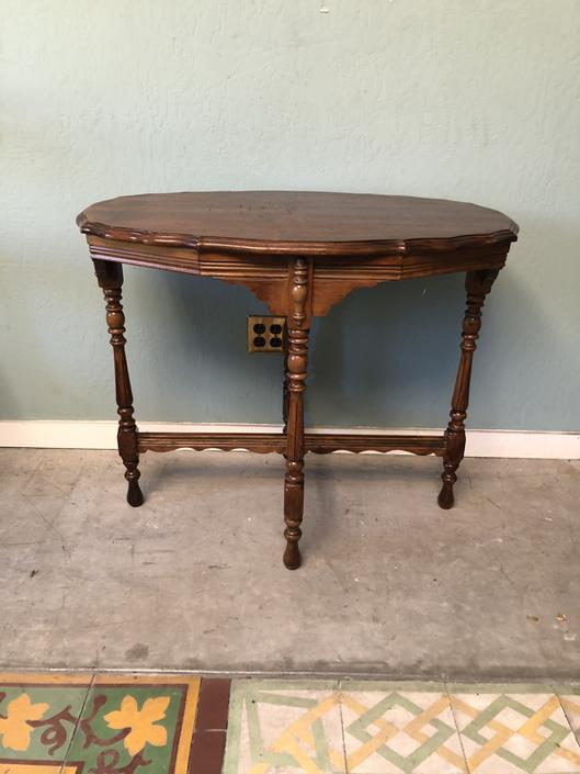 Neoclassic Mahogany Side Table
