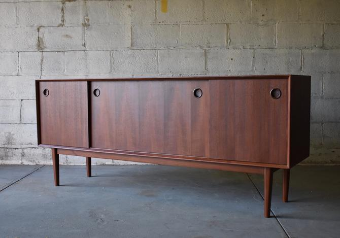 Long + Sleek Mid Century Modern Teak CREDENZA media stand by CIRCA60