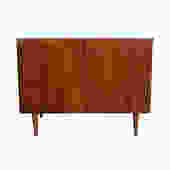 Bassett Bar Cabinet Entertainment Unit Walnut Mid Century Modern by HearthsideHome