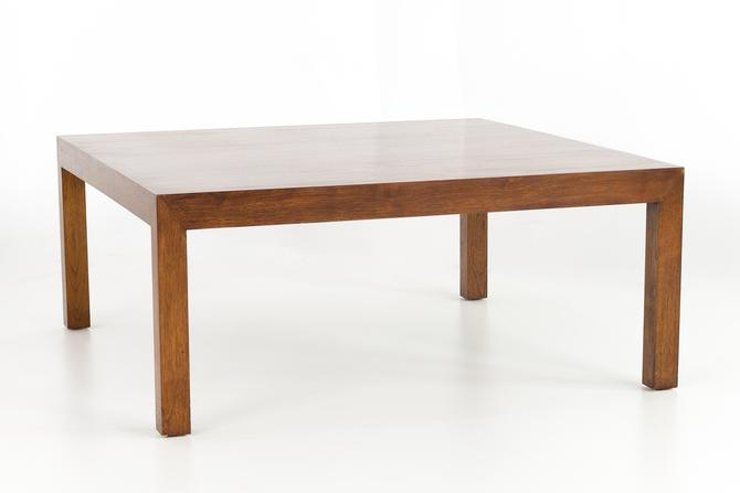 Edward Wormley for Dunbar Mid Century Square Walnut Coffee Table - mcm by ModernHill