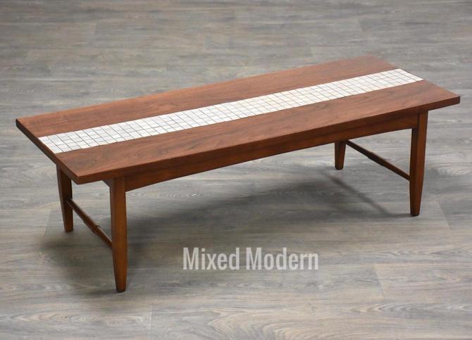 Lane Walnut & Tile Coffee Table by mixedmodern1