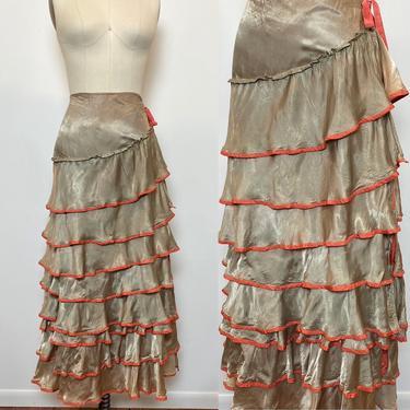Vintage 1930s 1940s Skirt Theatre Costume Haloween Carmen Miranda Flamenco Ruffle by littlestarsvintage