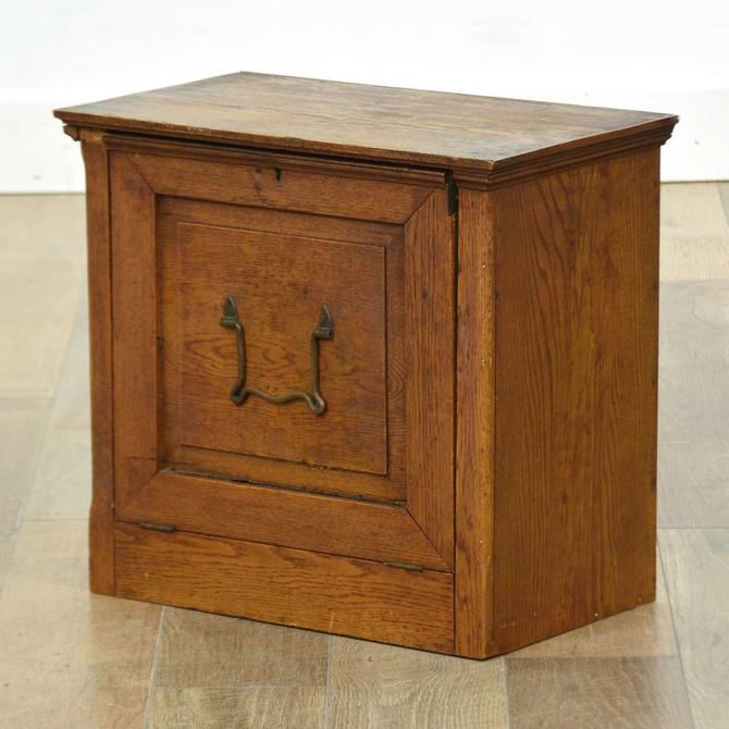 Antique Oak Apothecary Cabinet